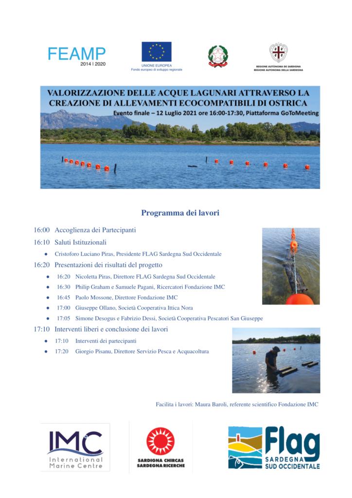 Valorizzazione delle acque lagunari attraverso la creazione di allevamenti ecocompatibili di ostrica - Evento finale